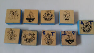 25 Stamps lot -scrap booking card making art draw paint craft Kitchener / Waterloo Kitchener Area image 2