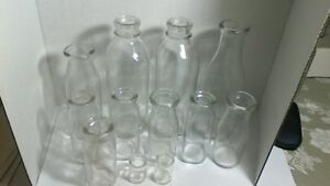 12 OLD MILK BOTTLES ITEMS