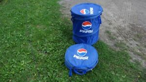 2 NEW FOLD UP PEPSI COLA MERCHANDISER COOLERS