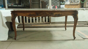 Beautiful Mid Century LXV Style Leather Top Desk