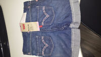 Baby Girl Levi's Jean Shorts never worn 12mths
