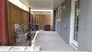 1 Bed BRAND NEW RENO basement apartment for rent! Private Patio!