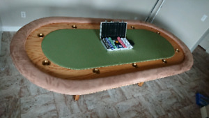 Poker table custom wood crafted for 10 players