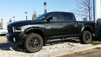 "2015 RAM SPORT 1500 4"" LIFT, RIMS/TIRES, FLARES & BOARDS !!"