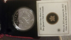2012 Canadian $20 dollar 99.9% pure fine silver coin
