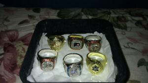 6 NHL collectors rings