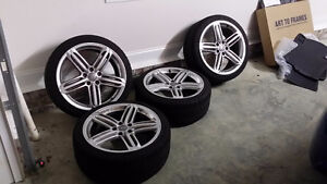 4 audi Q5 rims 235/60/18 MICHELIN xice WINTER tires %95 tread