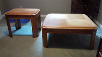 FREE MATCHING COFFEE TABLE AND 1 END TABLE