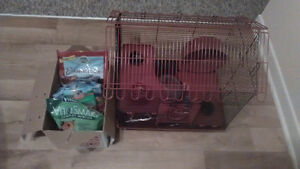 Hamster cage and food (like new) Cornwall Ontario image 1