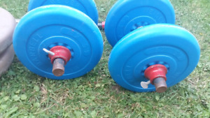 Workout set of weights