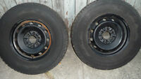 Ford 6 Stud studded Tires and Rims P265 70R17 113s M+ S $80.