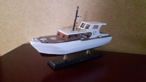 Pleasure craft boat 1950's wooden with STAND.