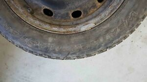 SET OF 4  WINTER TIRES ON RIMS 195/65R15--$350 O.B.O London Ontario image 3