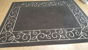 Very large brown & cream rug for sale
