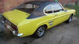 1972 MK1 Ford Capri 2.0 GT XLR auto daytona yellow mot 19/01/2018 shrewsbury