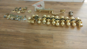 Gold door knobs/locks