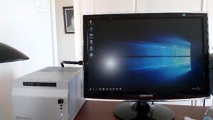 """Ordinateur HTPC  Mini ITX  XEON X3470 + ecran 22"""" Samsung"""