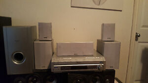 Pioneer home theatre surrond soundsystem with 5 disc cd/dvd