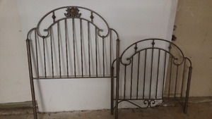 single bed frame - headboard and footboard