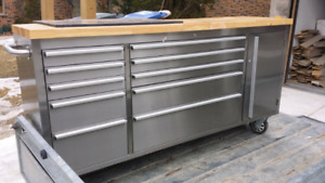 Husky Stainless Steel Rolling Tool Cabinet