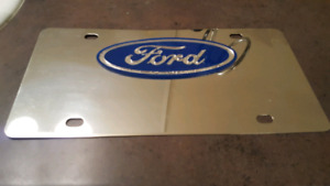 Chrome ford plate. $10.