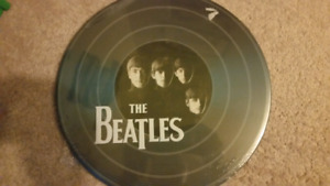 New Tin Sign Embossed LP Record
