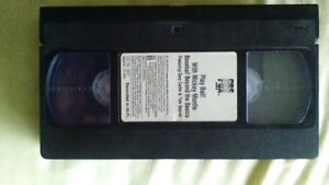 PLAY BALL WITH MICKEY MANTLE VHS TAPE WITH MICKEY SHOWING
