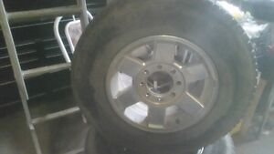 FACTORY DODGE ALUMINUM 8 BOLT MICHELIN TIRES IN GREAT SHAPE 595.