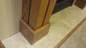 Solid Oak Fireplace Mantle - NEW Kitchener / Waterloo Kitchener Area image 4