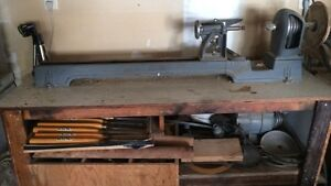 Lathe with all the tools