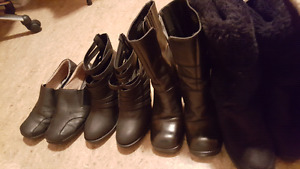 Boots for sale as low as 10 dollars each excellent  condition