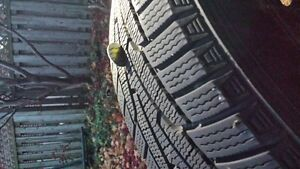 215/60r17 Winter Tires With Rings Cambridge Kitchener Area image 2