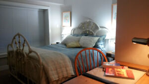 Fully furnished 1 bdrm suite large, clean, quiet, $450/wk!