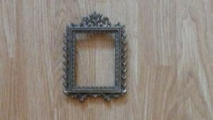 Vintage metal frame, fits 3 1/2 x 2 3/4 inch picture