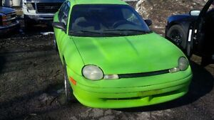 1995 Dodge Neon Sport Nitro Yellow Green Coupe (2 door)