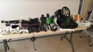 Xbox, video controllers, Rock Band microphones, etc.
