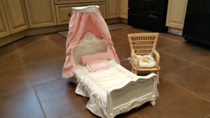 American Girl Doll Bed + Chair
