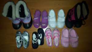 Size 7 to 11 Girl Shoes and Boots Lot - 8 Pairs for Only $30