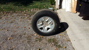 2 Snow Tires with Rims for Toyota Tundra