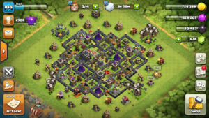 Almost max TH9 Clash of Clans account