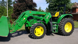 John Deere 6105M Open Station Tractor with H340 Loader