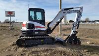 2014 Bobcat E50 Excavator w/trailer & buckets