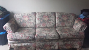 FREE FREE FREE!  Floral Couch Good Shape