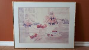 Reproduction «fleurs et fruits»