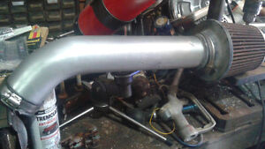 aluminum cold air intake tube with filter