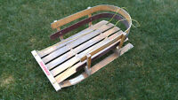 "Vintage Solid Wood Sled 36"" Long Cottage/Home Decor"