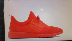Red hip hop shoes