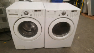 LG front load washer and dryer