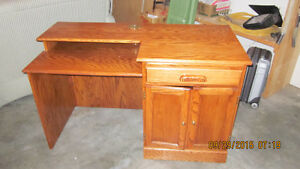 Solid Oak Desk with chair