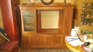 solid wood tv and video cabinet